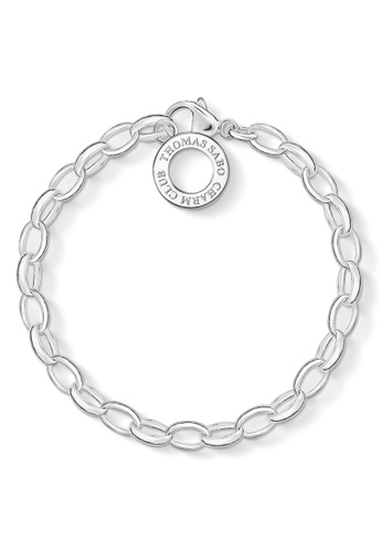 """THOMAS SABO silver Charm Bracelet """"Classic Large"""" BE931ACED83736GS_1"""