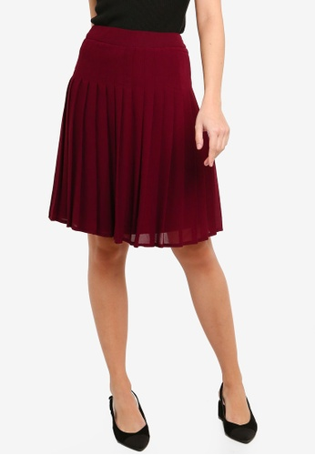 FORCAST purple Lydia Pleated Skirt 39189AA3DCE9B0GS_1