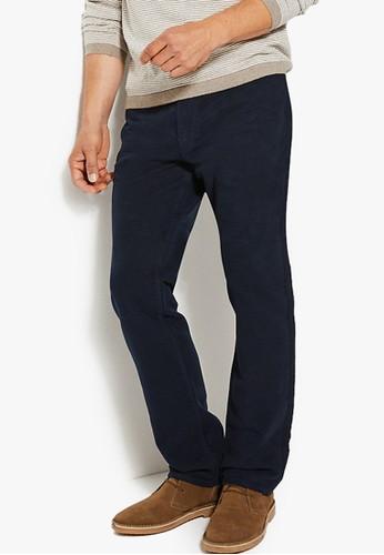 MARKS & SPENCER navy Regular Fit Italian Moleskin Trousers F9234AA9D9BB93GS_1