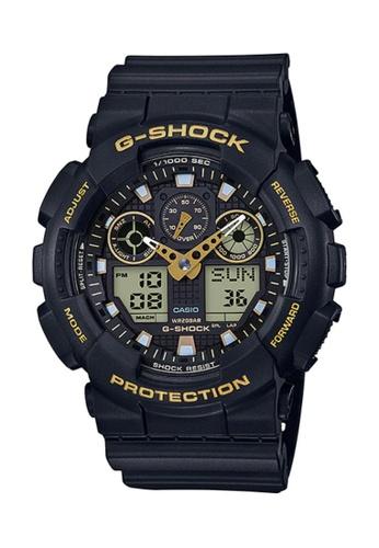 CASIO black Casio G-Shock Gold and Black Resin Watch 05F1CACA0A431FGS_1