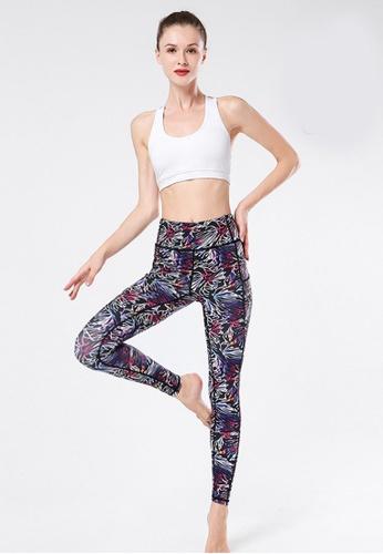 B-Code black ZYG3030-Lady Quick Drying Running Fitness Yoga Sports Leggings -Black BB30BAA170B7A8GS_1
