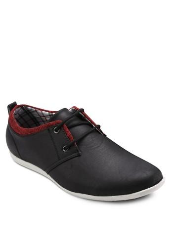 雙眼撞色正式休閒皮鞋,esprit 眼鏡 鞋, 休閒鞋