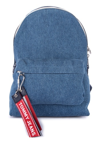 1a2ec96074d Tommy Hilfiger blue Tju Logo Tape Mini B Denim Backpack With Brand Details  13882ACFA42A50GS_1