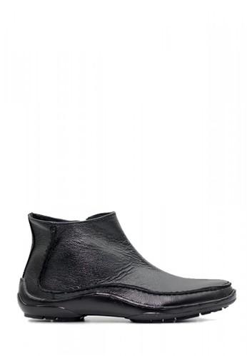 D-Island black D-Island Shoes Zipper Slip On Rajut Leather Full Black 9ED8CSHCFCA13FGS_1