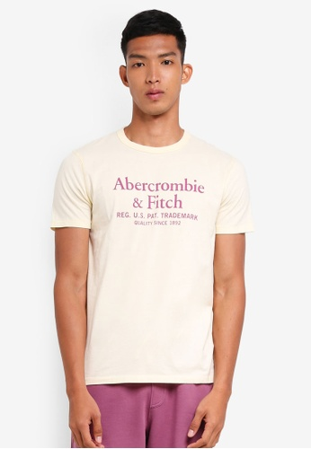 Abercrombie & Fitch yellow Brand Logo T-Shirt 430ACAA73F9B2EGS_1