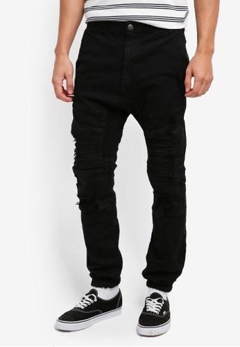 Cotton On 黑色 Slim Denim Joggers 6EF5FAA2BB9384GS_1