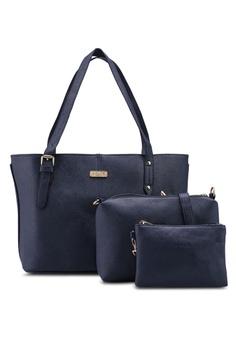 2985559d64 Unisa navy Saffiano Tote Bag Set Of 3 29B2EAC41C8D49GS_1