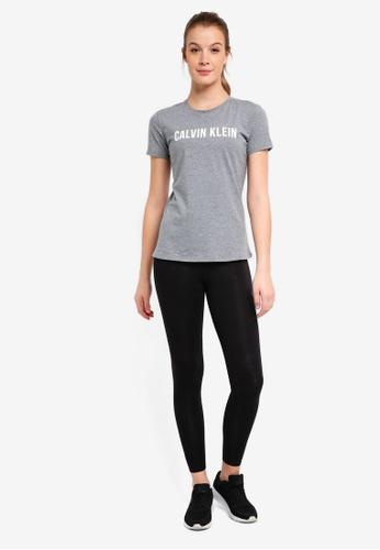 Calvin Klein grey CK Logo Ss Tee - Calvin Klein Performance A4D87AACDDAEA8GS_1