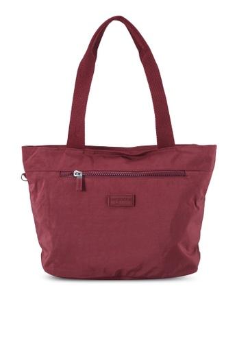 Bagstationz red Crinkled Nylon Tote Bag 2E752AC4B05CEDGS_1