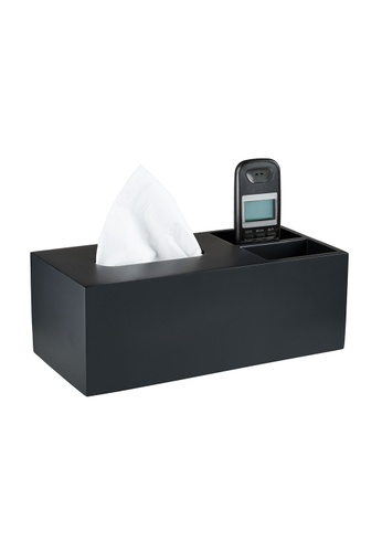 JVD JVD Gothic Resin Rectangle Tissue Box Holder With Remote Control Compartments 7BC52HL9F07500GS_1