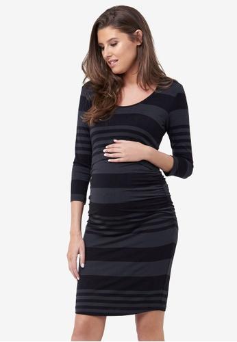 fd7498d600 Ripe Maternity black Maternity Striped Nursing Tube Dress 48D3FAA8E48E89GS 1