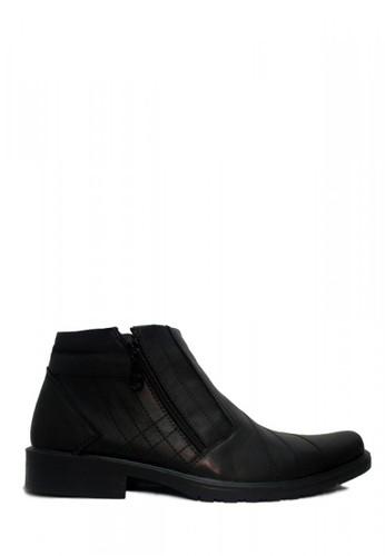 D-Island black D-Island Shoes Office Slip On Zipper Loafers Leather Black DI594SH66WRXID_1