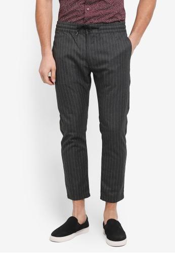 Topman grey Stripe Jogger Pants 657DDAADC748FCGS_1