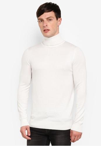 River Island 米褐色 高領長袖針織衫 C9E96AAB403CB7GS_1
