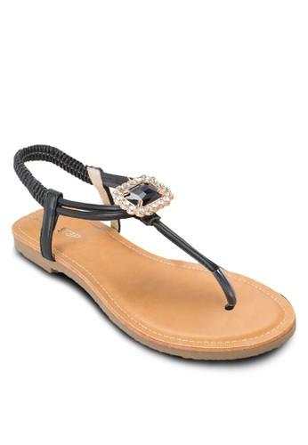 閃鑽寶石彈性繞踝涼鞋,esprit香港分店地址 女鞋, 鞋