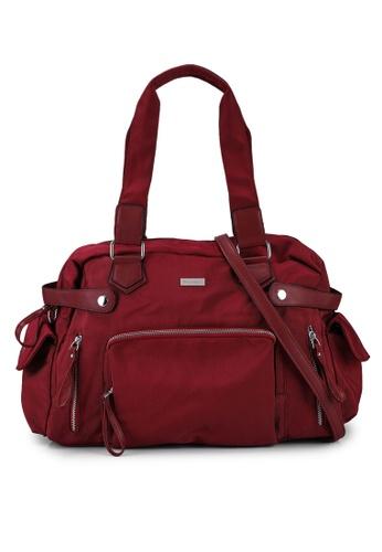 NUVEAU red Premium Nylon Convertible Shoulder Bag 59486AC52ED791GS_1
