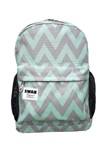 Swan green Swan Kids Children Easy Pack (Green) School Backpack Casual Bag 05026KC5906FCFGS_1