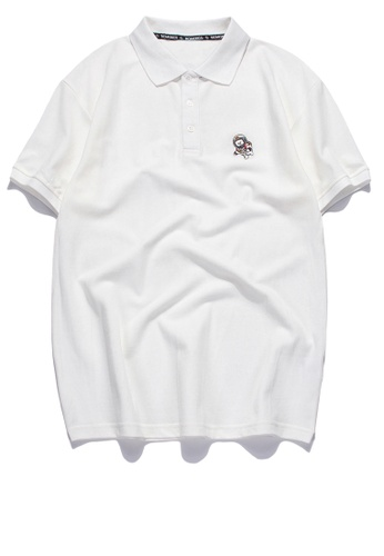 HAPPY FRIDAYS Simple Casual Embroidery Polo Shirt RS1203 7488FAA1BF46F3GS_1