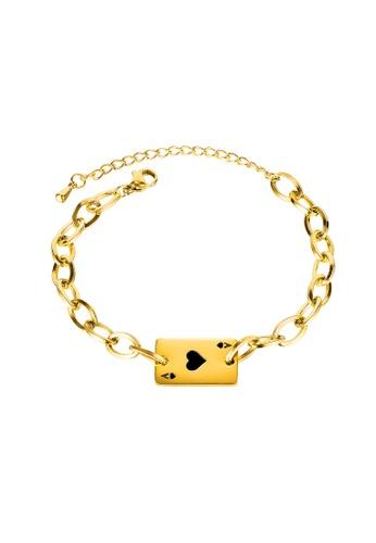 ADORA black Stainless Steel Card Bracelet E017BACC584B85GS_1