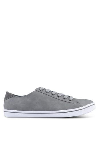 Topman grey Grey Copper Lace PU Trainers TO413SH0SJLFMY_1