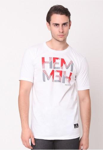 HEMMEH white T-Shirt White Hemmeh A3387AA6D6EB51GS_1