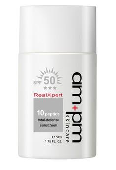 10X Peptide Total-Defense Sunscreen SPF50 50ml Free 1x NRK Collagen Booster Firming Mask