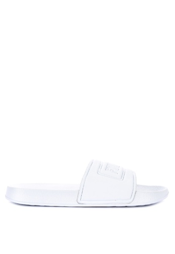 Penshoppe white Synthetic Leather Sliders 0257ASHC520B72GS_1