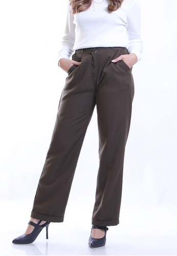 Hardware green HARDWARE ISABELL BASIC BAGGY TROUSER 82F87AA08E32B3GS_1