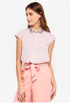 3faa017e9ff4 WAREHOUSE pink Embellished Shirt FAB50AA7404A50GS 1