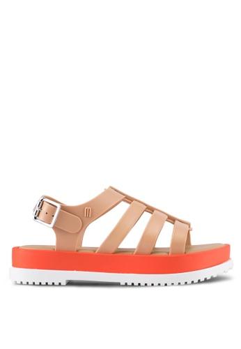 Melissa 米褐色 Melissa Flox III Ad Sandals ME121SH0RT1VMY_1