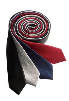 Microcheck Slim Necktie Combo A