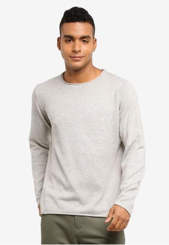 Indicode Jeans 灰色 長袖針織毛衣 C97B1AA49A5968GS_1