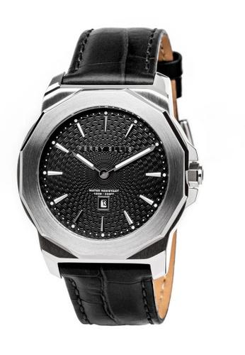 PERRY ELLIS black Perry Ellis Decagon Unisex 42mm Quartz Watch 08002-01 B25ADAC09F4D32GS_1