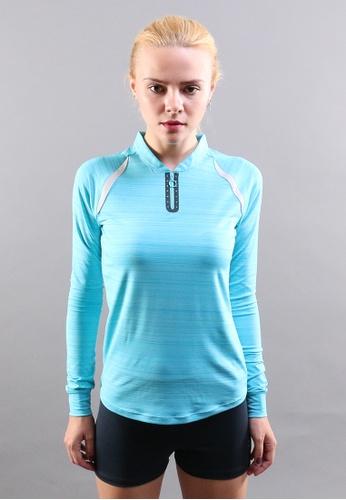 AMNIG blue Amnig Women Running Long Sleeve Top 53934AA4B99690GS_1
