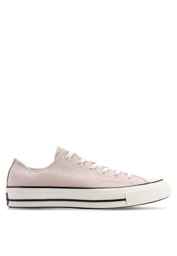 4e40ceaed67 Converse beige Chuck Taylor All Star 70 Vintage Canvas Ox Sneakers  14B9DSHA58D13FGS_1