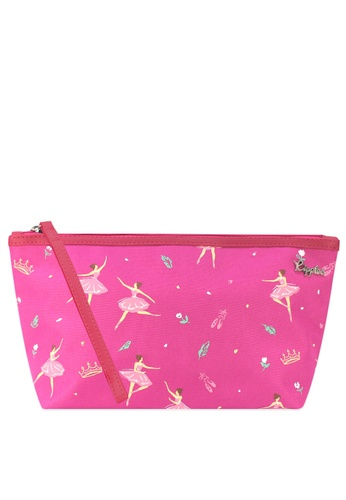Ripples pink Ripples Ballerina Ladies Cosmetic Pouch RI425BE0GMZCSG_1