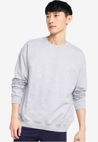 ZALORA BASICS grey Terry Oversized Sweatshirt 72B31AAA70D0CDGS_1