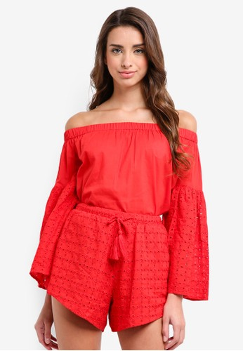Glamorous red Ladies Blouse 84FABAA9C9A78EGS_1