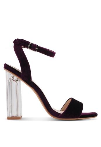 Velvet purple Velvet Pearl Block Heel A17DCSH6644094GS_1