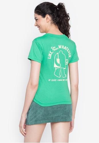 Artwork green Like Whatever T-Shirt 674C4AAAF36C84GS_1