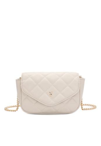 PLAYBOY BUNNY beige Women's Sling Bag / Shoulder Bag / Crossbody Bag 7C3B0ACF8C99C4GS_1