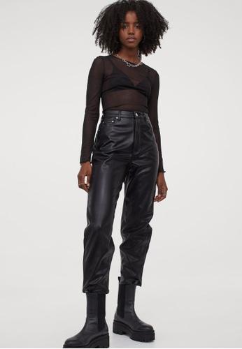 H&M black Long-Sleeved Top A6D0EAA0547D77GS_1