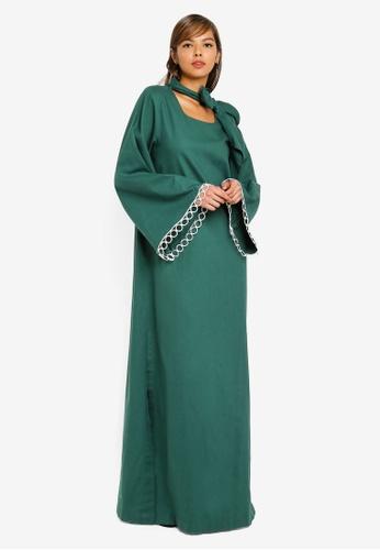 AfiqM green Jasmin Tunic Dress FD826AA762234DGS_1