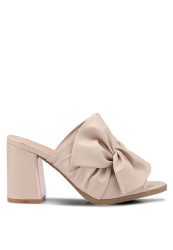 Carlton London 米褐色 蝴蝶結穆勒鞋 D77B3SH4A3423CGS_1