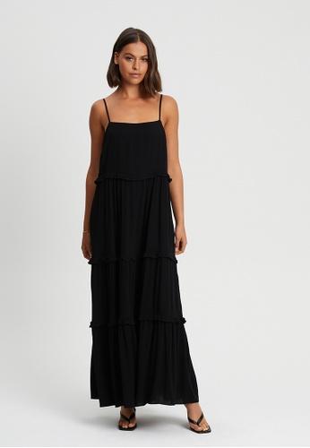 Calli black Marla Midi Dress C0F36AA9D66C26GS_1