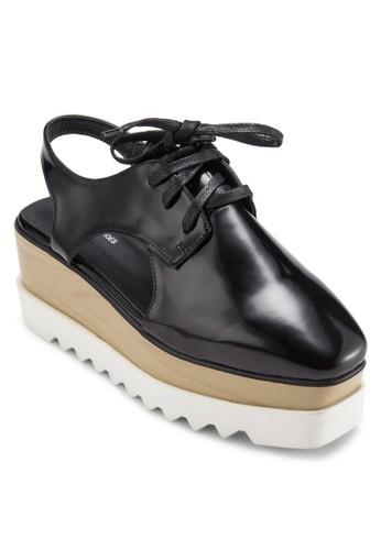 木根厚esprit 內衣底鏤空德比鞋, 女鞋, 鞋