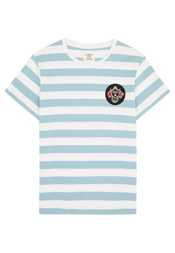 Kent and Curwen Hoop Striped T-Shirt C2465AAB85394EGS_1