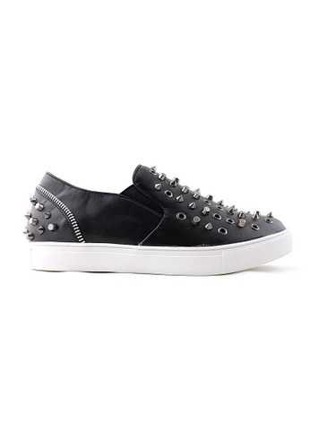 Te Chi-Chi black and white Studded Slips On Shoes TE125SH76RETMY_1