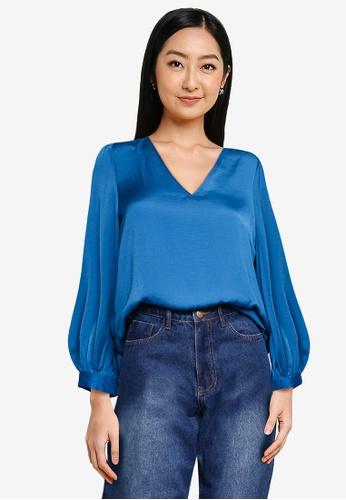 Vero Moda blue Liv Ls Top 5D1F8AA6B5BA83GS_1