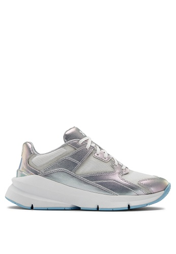 Under Armour white UA W Forge 96 HL Iridescent Sneakers 20AC4SH81069E8GS_1
